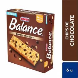 Barra de Cereal Balance Chips de Chocolate x 6 un. 138 g.