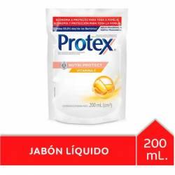 Jabón Líquido Protex Nutri Protect Doy Pack x 200 cc.