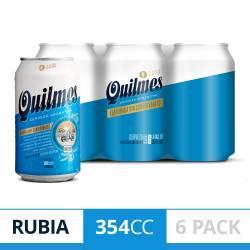 Cerveza Quilmes Pack x 6 Latas de 354 cc.