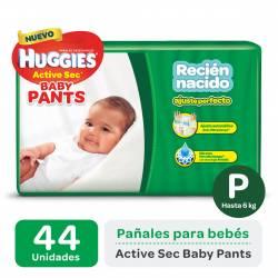 Pañal Pants Active Sec Hiper Huggies P x 44 un.