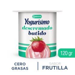 Yogur Batido Descremado Yogurísimo Frutilla x 120 g.