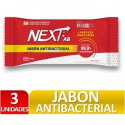 Jabón Tocador Antibacterial Next x 3 un. 270 g.