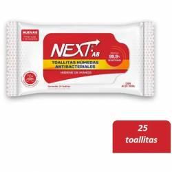 Toallitas Húmedas Antibacteriales Next x 25 un.