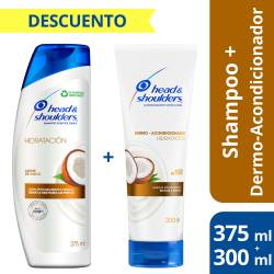 Shampoo + Acondicionador Head Shoulders Humectación x 525 cc.