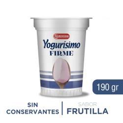 Yogur Entero Firme Yogurísimo Frutilla x 190 g.