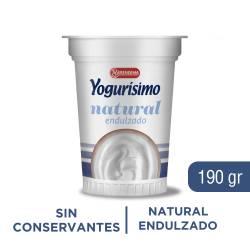 Yogur Entero Batido Yogurísimo Natural Endulzado x 190 g.
