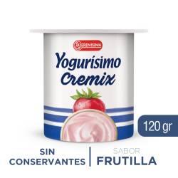 Yogur Entero Cremix Yogurísimo Frutilla x 120 g.