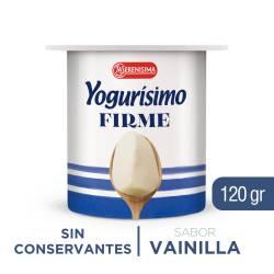 Yogur Entero Firme Yogurísimo Vainilla x 120 g.