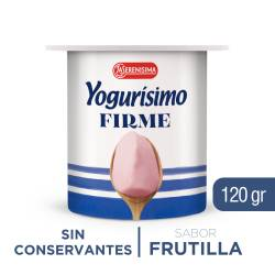 Yogur Entero Firme Yogurísimo Frutilla x 120 g.