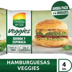 Medallón Quinoa y Espinaca Granja Del Sol Veggies x 420 g.