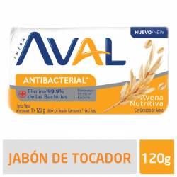 Jabón Tocador Antibacterial Aval Avena Nutritiva x 120 g.