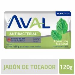 Jabón Tocador Antibacterial Aval Fresh Intensive x 3 un. 120 g.