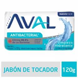 Jabón Tocador Antibacterial Aval Limpieza Hidratante x 120 g.