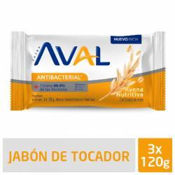 Jabón Tocador Antibacterial Aval Avena Nutritiva x 360 g.