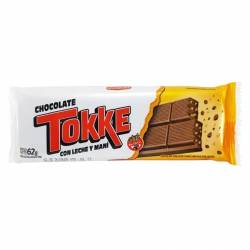 Chocolate con Leche y Maní Tokke x 62 g.