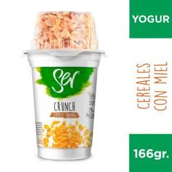 Yogur Descremado Crunch Ser Cereales con Miel x 166 g.