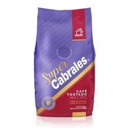 Café Molido Tostado Natural Súper Cabrales x 500 g.
