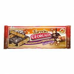 Turrón de Maní c/Chocolate Georgalos x 90 g.