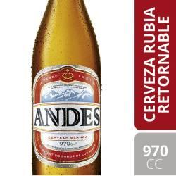 Cerveza Retornable Andes x 970 cc.
