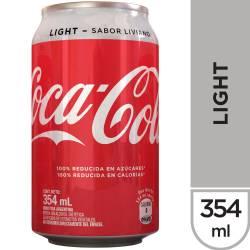 Gaseosa Cola Light Lata Coca Cola x 354 cc.