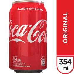 Gaseosa Cola Lata Coca Cola x 354 cc.