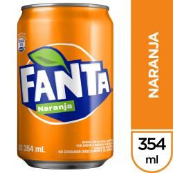 Gaseosa Naranja Lata Fanta x 354 cc.