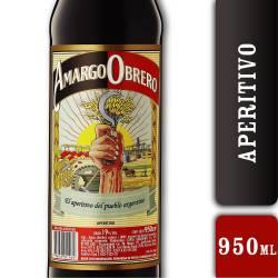 Aperitivo Amargo Obrero x 950 cc.