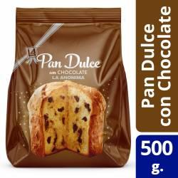 Pan Dulce c/Chocolate La Anónima x 500 g.