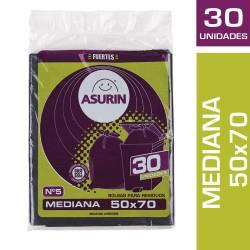 Bolsa Residuos 50X70 Asurin x 30 un.