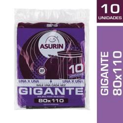 Bolsa Residuos 80X110 Asurin x 10 un.