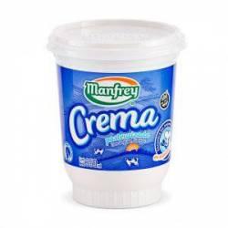 Crema de Leche Pasteurizada Pote Manfrey x 350 cc.