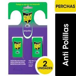 Insecticida Antipolilla Percha Raid x 2 un.
