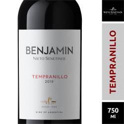 Vino Tinto Tempranillo Benjamín x 750 cc.
