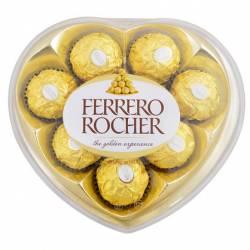 Bombones Chocolate Corazón Ferrero Rocher x 8 un.