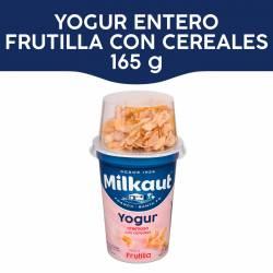 Yogur Entero Frutilla c/Cereal Mez Milkaut x 150 g.
