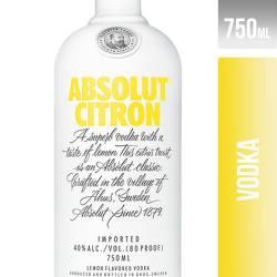 Vodka sabor Citrón Absolut x 750 cc.