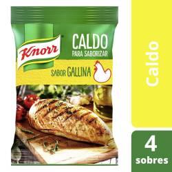 Caldo saborizante de Gallina Knorr x 4 un.