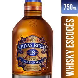 Whisky 18 Años Chivas Regal x 750 cc.