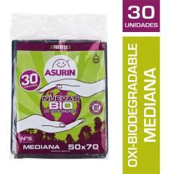 Bolsa Residuos 50X70 Oxi-Bio Asurin x 30 un.