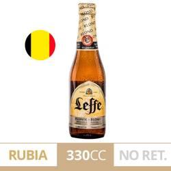 Cerveza Long Neck Blonde Leffe x 330 cc.