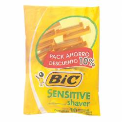 Máquina Afeitar Sensitive Pack Bic x 10 un.