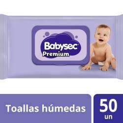 Toallitas Húmedas Premium Babysec x 50 un.