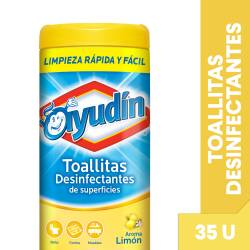 Toallitas Húmedas Desinfectantes Limón Disp. Ayudín x 35 un.