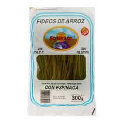 Fideos de Arroz c/Espinaca Soyarroz x 300 g.