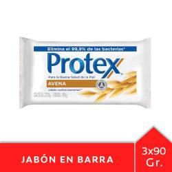 Jabón Tocador Avena Protex x 3 un.
