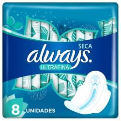 Toalla Higiénica Seca Absorción Gel c/Alas Always x 8 un.