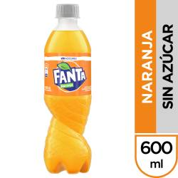 Gaseosa Naranja s/Azúcar Pet Fanta x 600 cc.