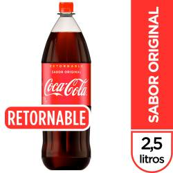 Gaseosa Cola Pet Retornable Coca Cola x 2,5 Lt.