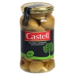 Aceitunas Verdes Premium Descarozadas Castell x 180 g.