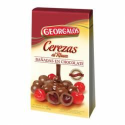Cerezas al Rhum c/Chocolate Georgalos x 100 g.